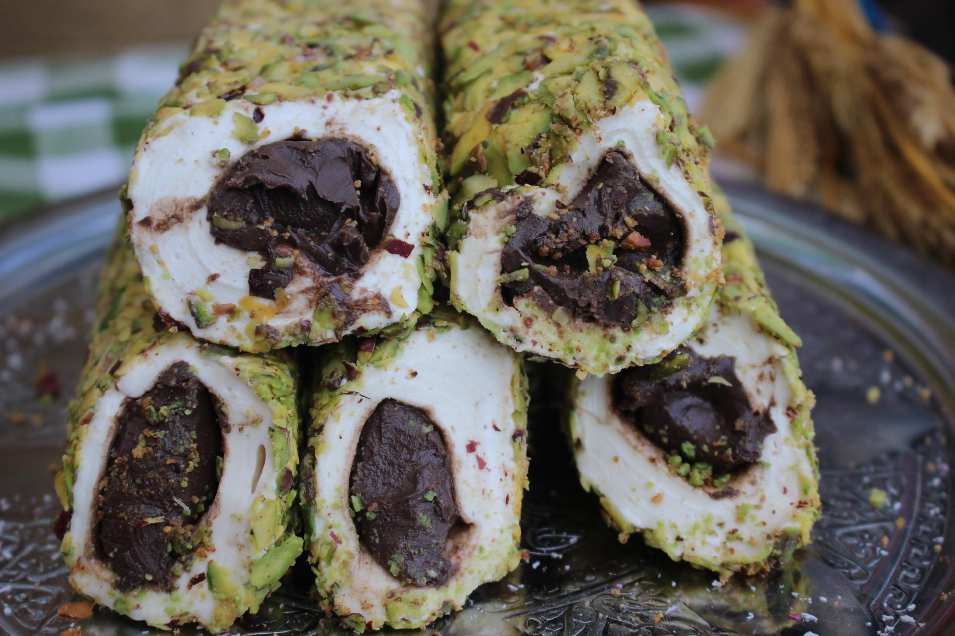 File Fıstıklı Çikolatalı Sarma Lokum (500 Gr)