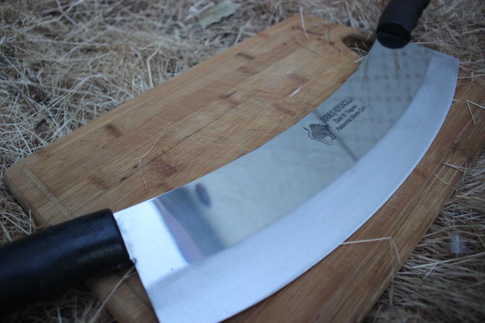 Çift Saplı Çelik Zırh ( 35 cm)